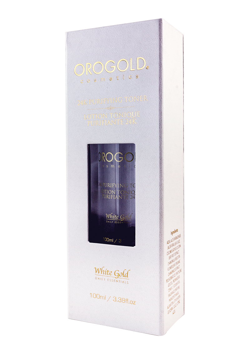 OROGOLD White Gold 24K Purifying Toner in case